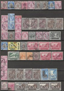 COLLECTION LOT OF #1809 MALAYA PERAK 55 STAMPS 1895+ CLEARANCE