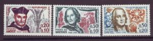 J14303 JLstamps 1963 france set of 3 mnh #b367-9 famous people