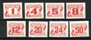 C  J28a,J31a-J34a,J36a-J40   Mint NH VF 1977-78 PD