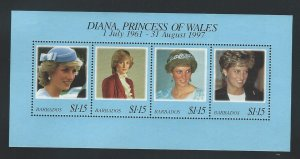 Barbados   mnh souvenir sheet  s.c.#  950