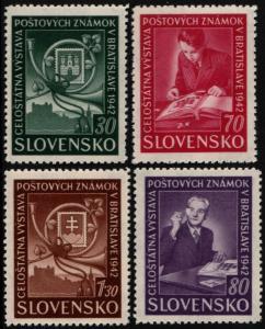 ✔️ SLOVAKIA 1942 - PHILATELIC EXPO - SC.70/73 MNH OG [SK098]