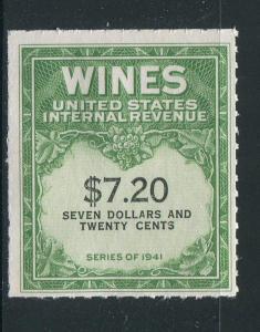 United States Wine Revenue #RE160 MNH