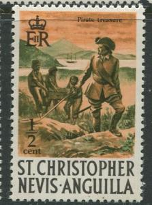 St. KITTS-NEVIS-Scott 206 -Definitives-1970- MNH - Single 1/2c Stamp