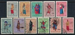 Angola #395-400,2-6*/u  CV $3.30