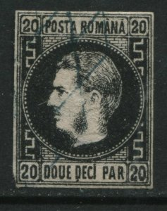 Romania 1866 20 pa black used