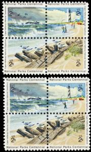 1451a, MNH 2¢ National Parks Color Shift ERROR Block of 4 Stamps - Stuart Katz