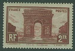 France SC# 263 Arc de Triomphe - Paris, 2fr, MH