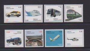 2019 Tajikistan Transportation (8)  (Scott NA) MNH