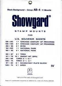 SHOWGARD BLACK MOUNTS GROUP AB (11) RETAIL PRICE $8.75