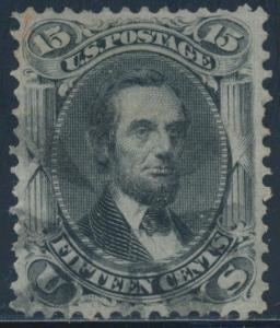 #77 VF-XF USED WITH BLACK & RED CANCELS CV $340 BT4064