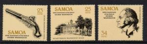 Samoa 567-70 MNH George Washington, Architecture