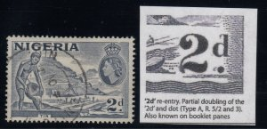 Nigeria, SG 72da, used Re-Entry variety