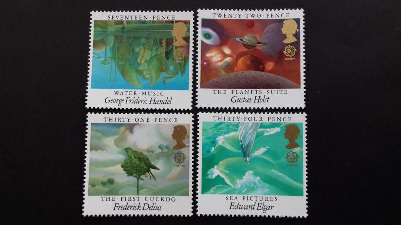 Great Britain 1985 EUROPA Stamps - European Music Year Mint