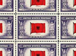 1943 - ALBANIA - #918 Full Mint -MNH- Sheet of 50 Postage Stamps