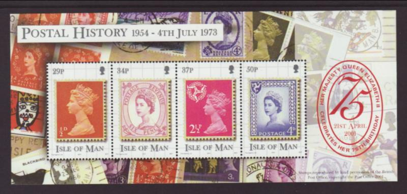 Isle of Man 900 Stamp on Stamp Souvenir Sheet MNH VF