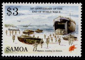 SAMOA QEII SG964, $3 American marines, NH MINT.