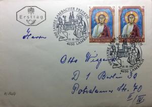 AUTRICHE / AUSTRIA / ÖSTERREICH 1967 Mi.1246 (x2) on FDC to Germany