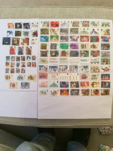 Great Britain Christmas used stamps  100+  Lot A