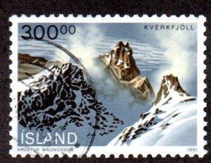 ICELAND 737 USED SCV $3.50 BIN $1.40 LANDSCAPE