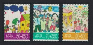 Aruba Child Welfare Children's Drawings 3v 1995 MNH SG#172-174
