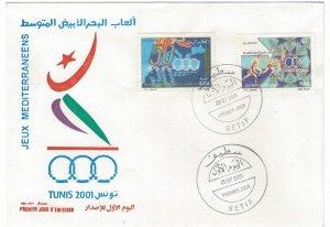 Algeria 2001 FDC Stamps Scott 1227-1228 Sport Mediterranean Games Running
