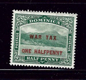 Dominica MR1 MH 1916 Overprinted issue