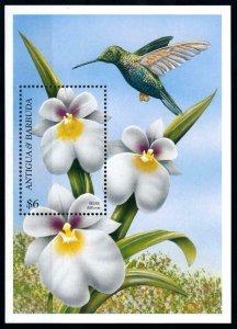 [79862] Antigua & Barbuda 1997 Flora Flowers Blumen Orchids Bird Sheet MNH