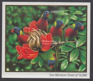 Vanuatu 741a Birds Souvenir Sheet MNH VF