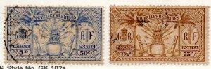 New Hebrides (Fr.) 50-51 Used