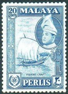 Perlis 1957 20c Fishing prau MH