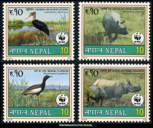 Nepal Scott 682-685 Mint never hinged.
