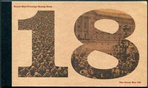 HERRICKSTAMP GREAT BRITAIN Sc.# BK221 World War I 1918 Prestige Booklet