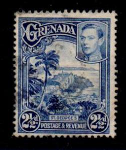 GRENADA SG157a 1950 2½d BRIGHT BLUE p12½x13½ USED