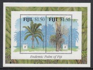 Fiji 712 Tree Souvenir Sheet MNH VF
