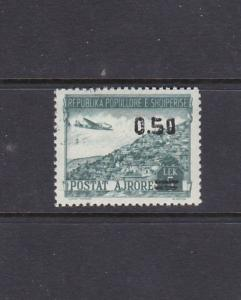 ALBANIA - 1952 AIR MAIL SURCHARGE - SCOTT C61 - MNH