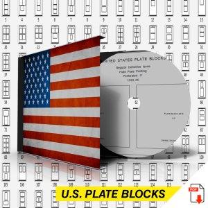 U.S.A. PLATE BLOCKS STAMP ALBUM PAGES 1901-2011 (789 PDF digital pages)