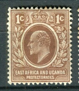 BRITISH KUT; Early 1900s Ed VII issue fine Mint hinged 1c. value