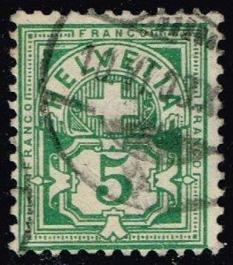 Switzerland #72 Numeral; Used (0.75) (2Stars)