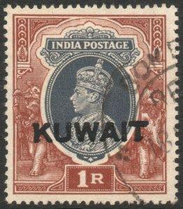 KUWAIT-1939 1r Grey & Red-Brown Sg 47 FINE USED V46440