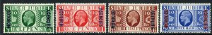 Morocco SG62/5 1935 Silver Jubilee SG69/71 M/M