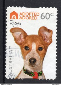 ADOPTED ADORED - PIPER postally used 60c BOOKLET SELF-ADHESIVE stamp from AUSTRA