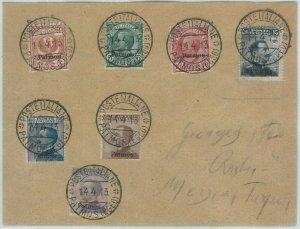 71678 -  colonie EGEO: PATMOS Patmo - Sassone 1/7 su BUSTA RACCOMANDATA  1913