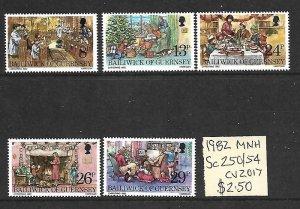 Guernsey MNH 250-4 Christmas 1982 SCV 2.50