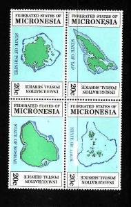 Micronesia MNH Block 4a Maps Of Islands