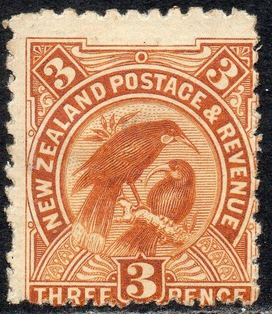 New Zealand 1908 Sg 383 3d brown Mounted Mint