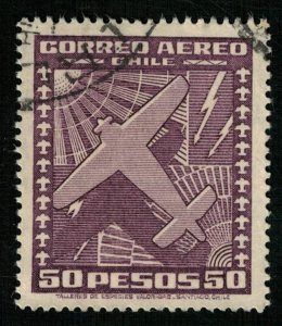 1934-1952, Airmail, Chile, SG #255a (T-9377)