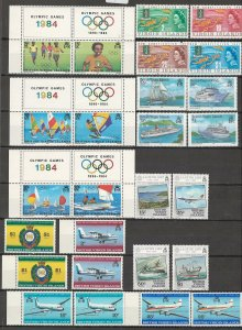 COLLECTION LOT # 4338 VIRGIN ISLANDS 26 MNH STAMPS 1967+ CV+$21 CLEARANCE
