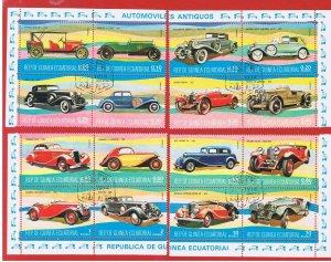 Equatorial Guinea 1974 Antique Autos  Free S/H