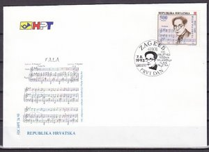 Croatia, Scott cat. 171. Composer issue. First day cover. ^