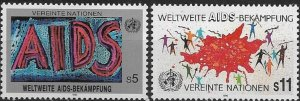 1990 United Nations Vienna Fight Aids Worldwide SC# 99-120  Mint